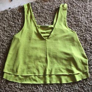 Green Zara Crop Top